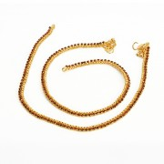 Jewbang coimbattore style Maroon Gold plated Anklets set for Girls n women JB739