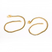 Jewbang coimbattore style Green Gold plated Anklets set for Girls n women JB743