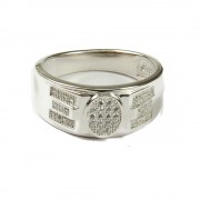 Jewbang 92.5 sterling silver white CZ stone 23.75 to 24 size ring for men n women JB644